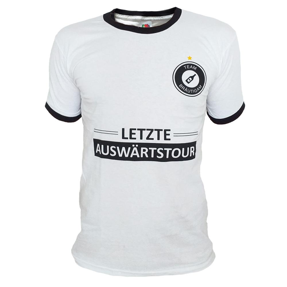 T-Shirt im Fußball-Design für den Junggesellenabschied