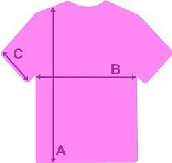 Größentabelle T-Shirts Frauen