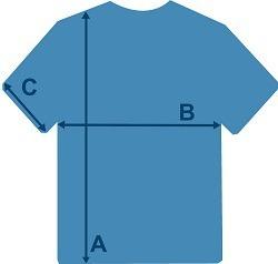 Größentabelle T-Shirts Männer
