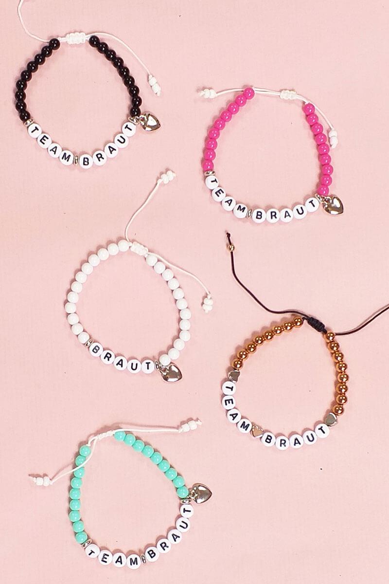 Braut und Team-Perlenarmbänder für den Junggesellenabschied