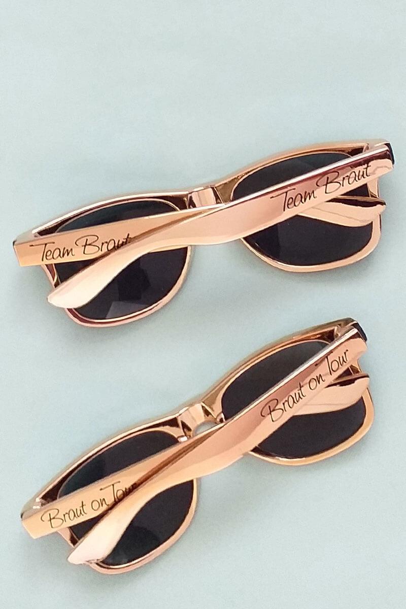 JGA-Sonnenbrillen in Rosegold für Damen