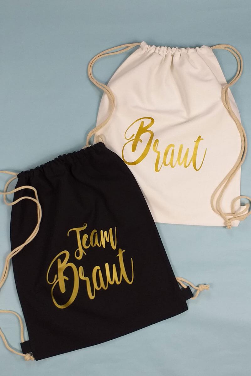Junggesellenabschied-Turnbeutel Glamour im Gold-Design