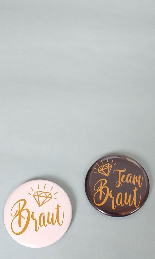 Junggesellenabschied-Buttons für Damen