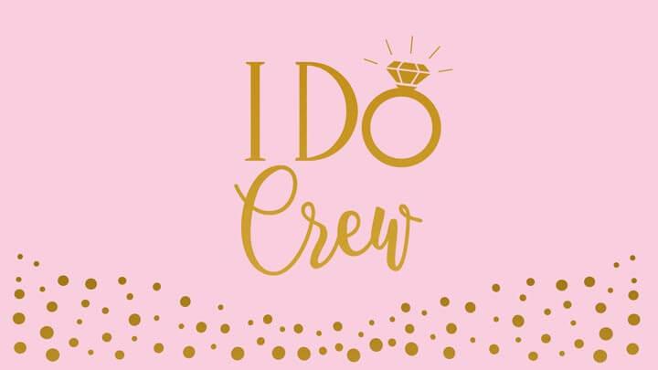 JGA Dosenbanderolen-Vorlage I do Crew in Rose-Gold