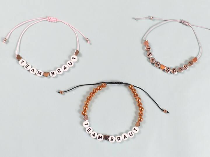 Team Braut-Armbänder für den Junggesellinnenabschied