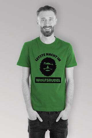 JGA Männer-Shirt - Wolfsrudel Alan - Gruen