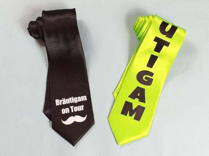 JGA-Krawatten für Männer mit Bräutigam-Aufdruck