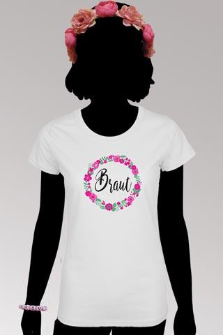 Braut Outfit-Set im Blumen-Look fuer den Junggesellinnenabschied