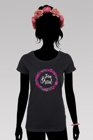 Team Braut Junggesellenabschied-Outfit im Blumen-Design  - Schwarz