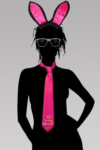 Team Braut - JGA Bunny Accessoires in Pink und Gold
