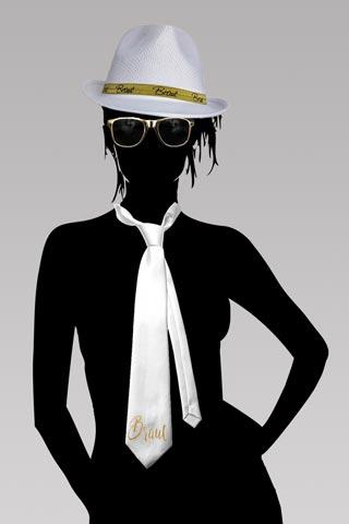 Junggesellenabschied - Braut-Kostüm in Weiss und Gold