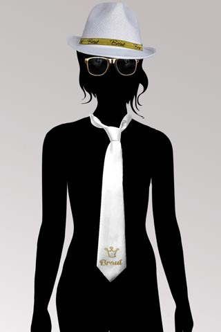 JGA Kostüm für die Braut - Gold und Weiss
