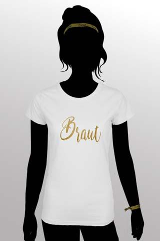 Braut Outfit - Junggesellinnenabschied - Gold und Weiss