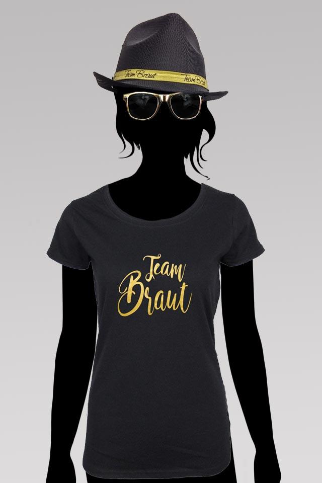 JGA Team Braut Outfit in Schwarz-Gold