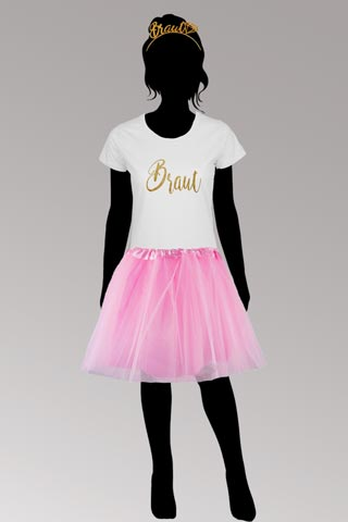 Braut-Verkleidung für den Junggesellenabschied - Rosa-Gold