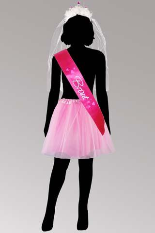 Junggesellinnenabschied - Braut-Kostüm in Pink-Rosa