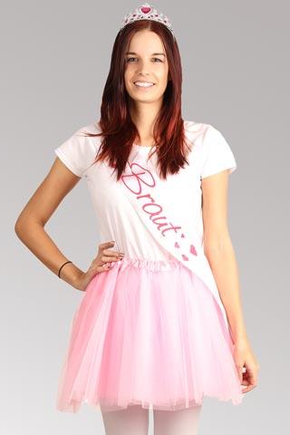 JGA Braut-Kostüm Wedding Princess - Rosa-Weiss