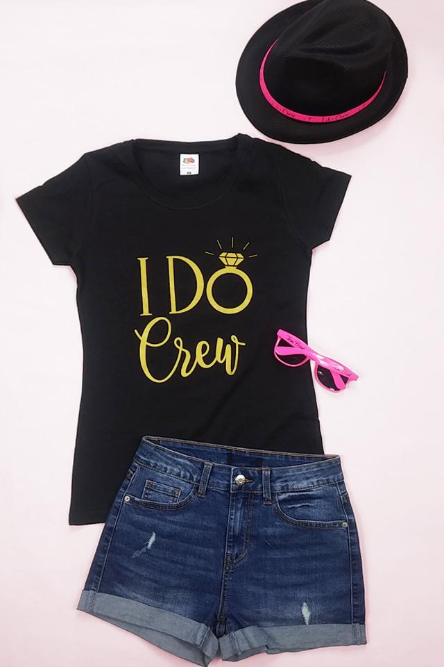 JGA Shirt I Do Crew mit Hut und Sonnenbrille