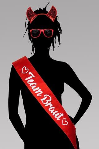 Junggesellenabschied - Team Braut Teufel-Kostüm - Rot