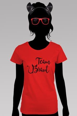 JGA - Team Braut Teufel-Kostüm in Rot-Schwarz