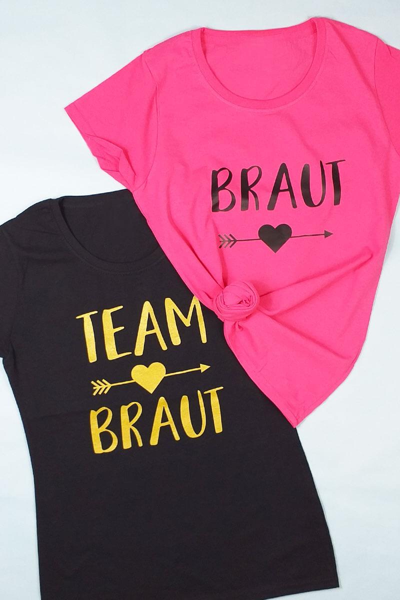 Damen Junggesellenabschied-Shirts mit Herz-Pfeil-Motiv