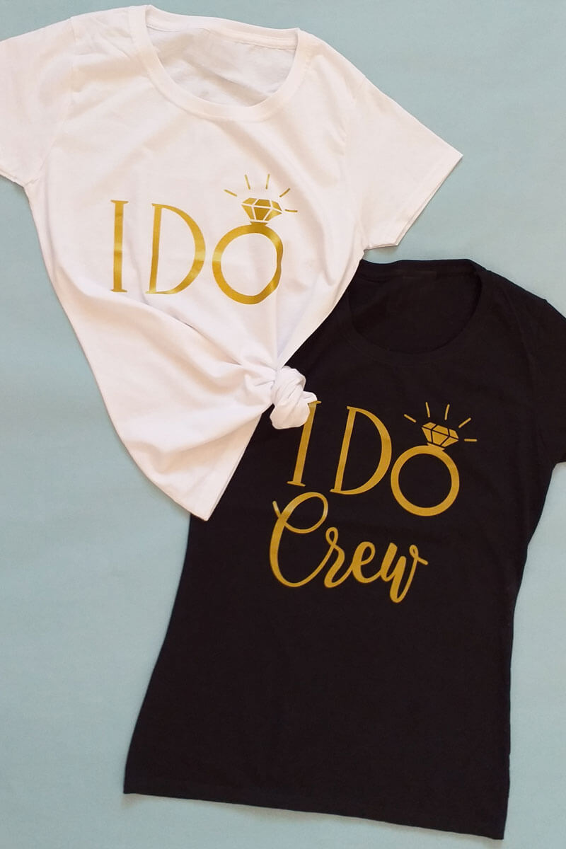 Damen JGA-Shirts mit I Do Crew-Aufdruck