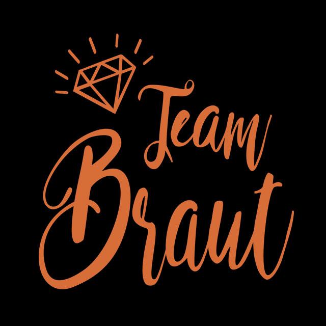 JGA-Motiv - Team Braut - Diamant - Kupfer