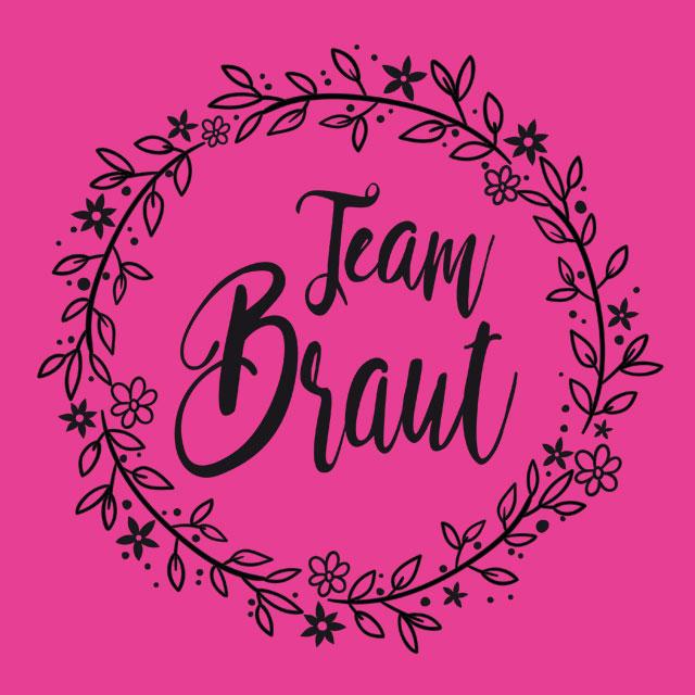 JGA-Motiv für Frauen: Team Braut - Floral