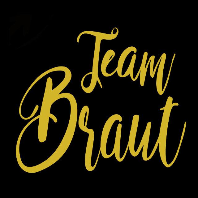 JGA-Motiv Team Braut - Glamour - Gold