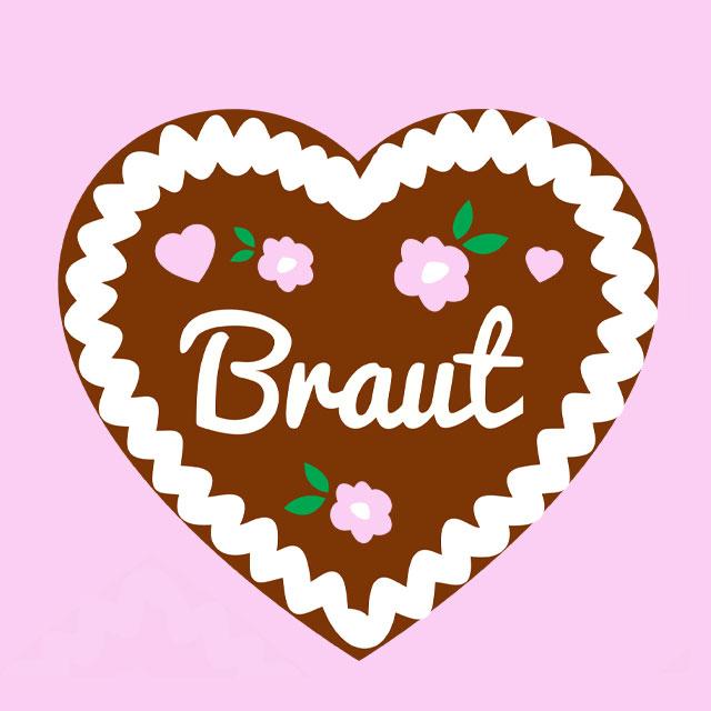 JGA-Motiv Team Braut - Lebkuchenherz