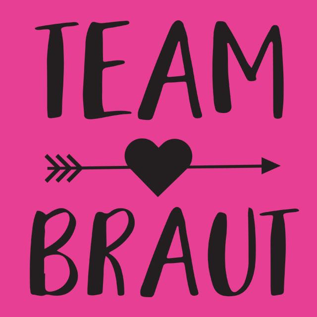 Team Braut - Pfeil - JGA-Motiv für Frauen