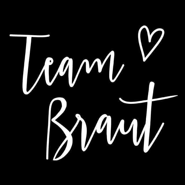 JGA-Motiv Team Braut - Plain Hearts