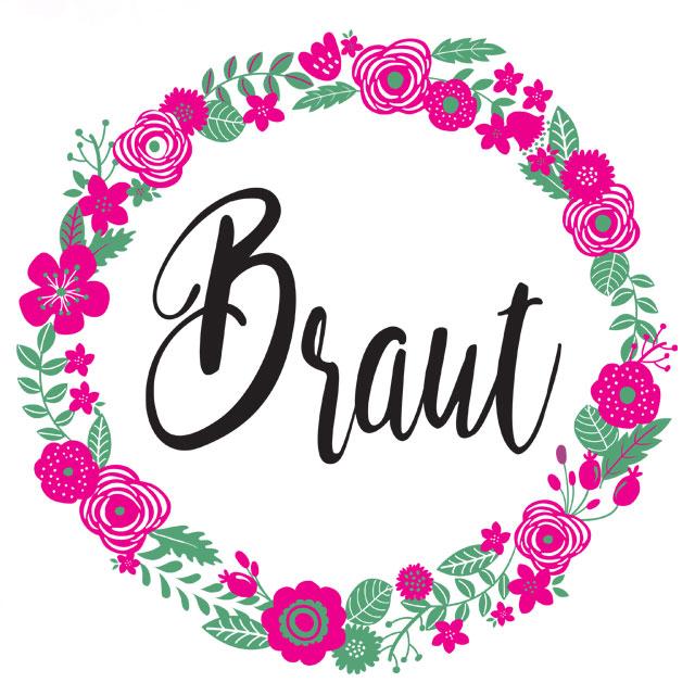 JGA-Shirt Motiv - Team Braut - Blumenkranz