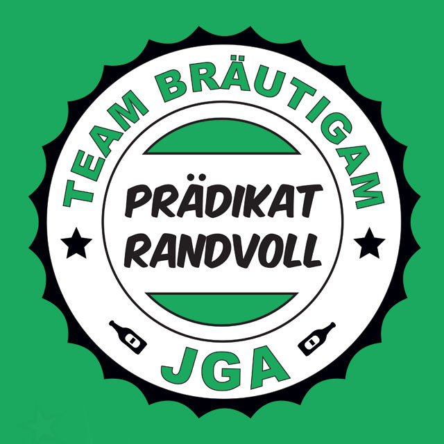 JGA-Shirt-Spruch: Prädikat Randvoll