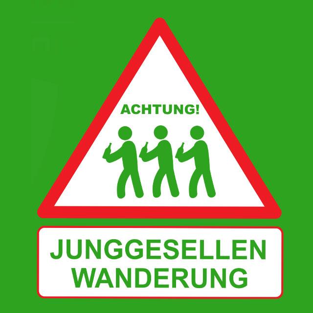 Junggesellen-Wanderung - JGA-Shirt-Spruch für Männer