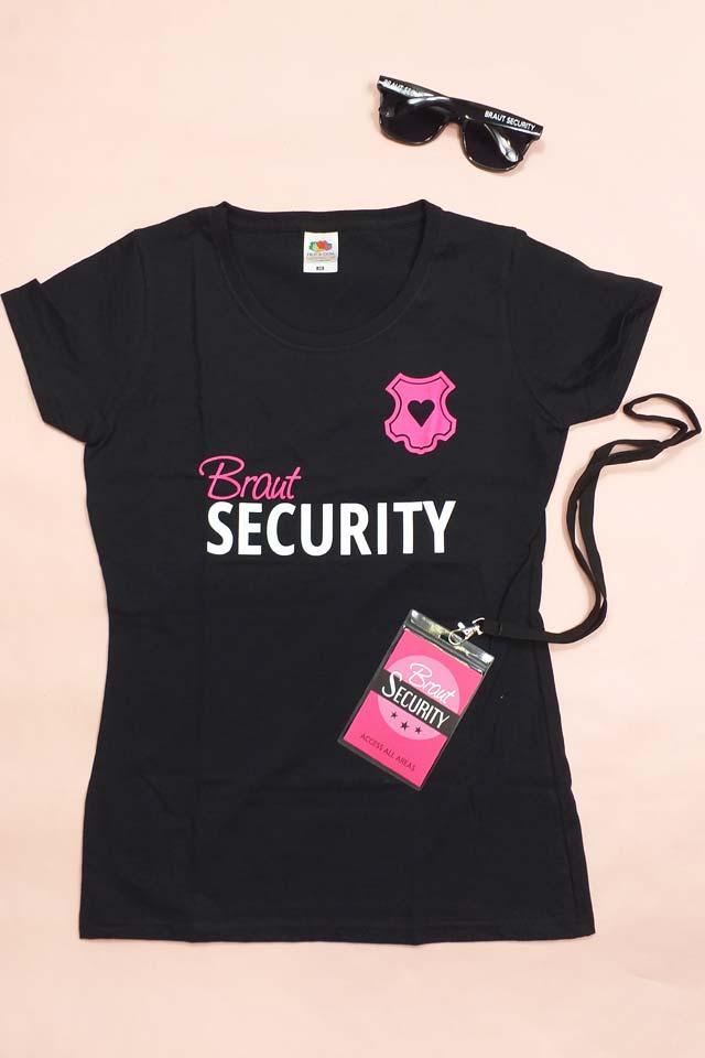 Braut Security-Outfit für den Junggesellinnenabschied