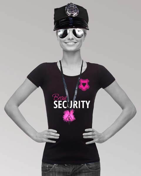JGA Outfits mit Braut Security Spruch