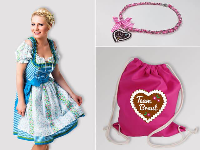 JGA Lebkuchenherz - Braut und Team Outfits