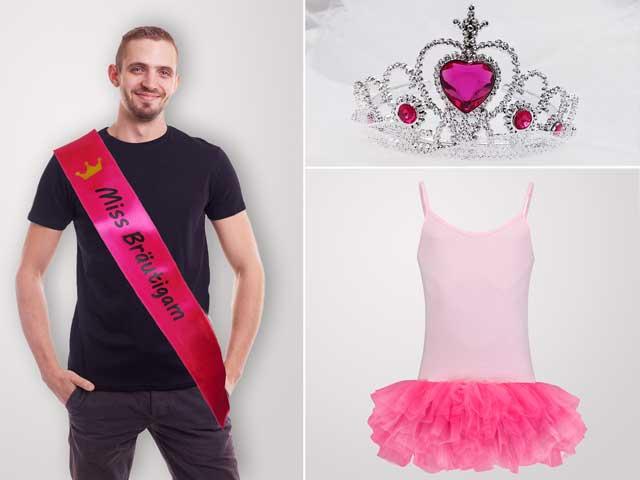 Miss Bräutigam - JGA Verkleidung für Männer