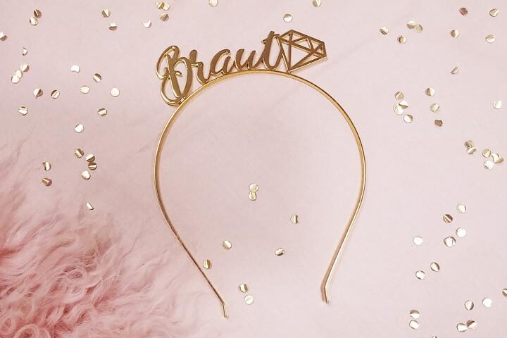 Goldfarbener Braut-Haarreif für den Junggesellinnenabschied