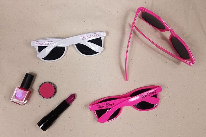 Braut und Team-Sonnenbrillen für den Junggesellenabschied